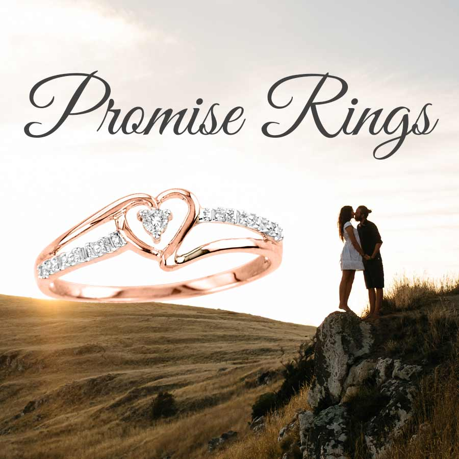 Promise Ring Couple on Rock
